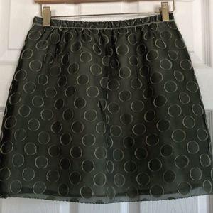 3/$25 J. Crew Green Circle Print Skirt - Size 2